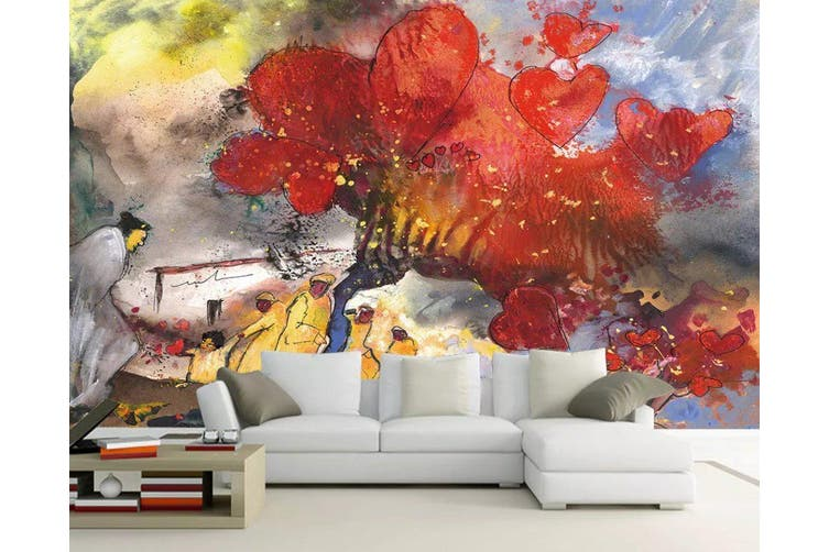 3D Home Wallpaper Red Maple 1168 BCHW Wall Murals Self-adhesive Vinyl, XXL 312cm x 219cm (WxH)(123''x87'')