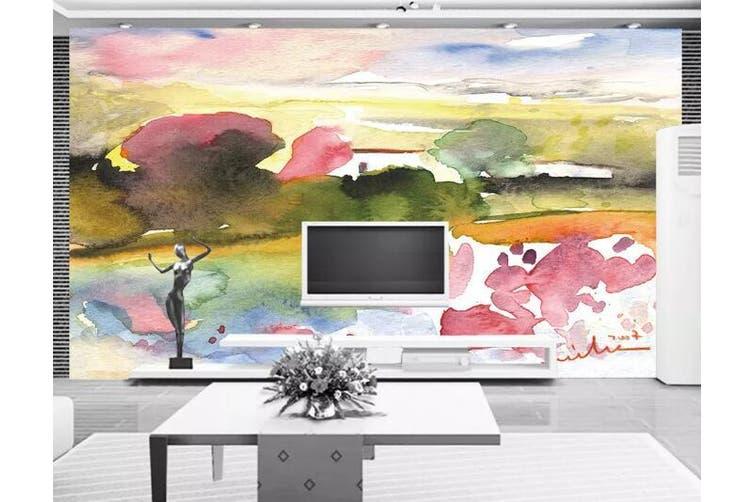 3D Home Wallpaper Forest Sunset 1167 BCHW Wall Murals Woven paper (need glue), XXL 312cm x 219cm (WxH)(123''x87'')
