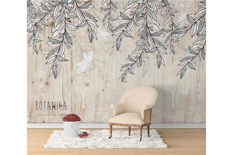 3D Home Wallpaper Leaves 1166 BCHW Wall Murals Woven paper (need glue), XXXL 416cm x 254cm (WxH)(164''x100'')