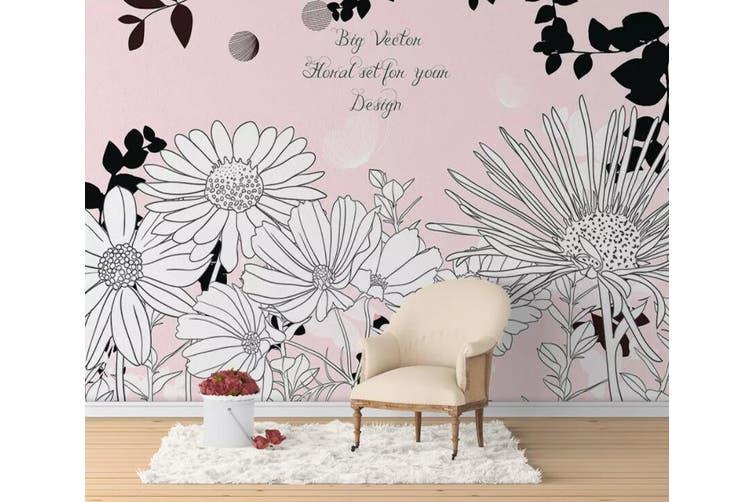 3D Home Wallpaper Sunflower Cute 1165 BCHW Wall Murals Woven paper (need glue), XL 208cm x 146cm (WxH)(82''x58'')