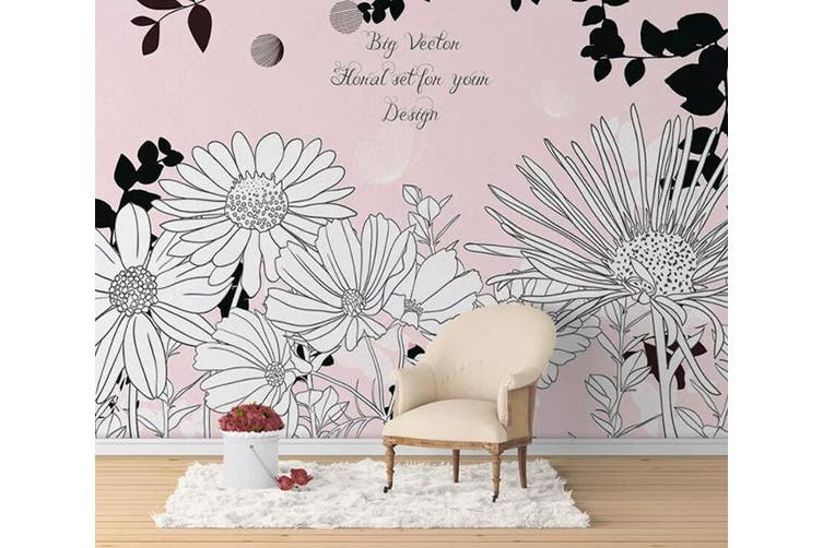 3D Home Wallpaper Sunflower Cute 1165 BCHW Wall Murals Self-adhesive Vinyl, XXXL 416cm x 254cm (WxH)(164''x100'')