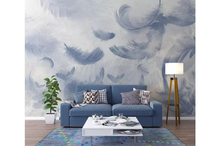 3D Home Wallpaper Feather Gently 1160 BCHW Wall Murals Woven paper (need glue), XL 208cm x 146cm (WxH)(82''x58'')