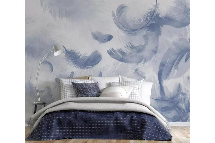 3D Home Wallpaper Feather Gently 1160 BCHW Wall Murals Woven paper (need glue), XXL 312cm x 219cm (WxH)(123''x87'')