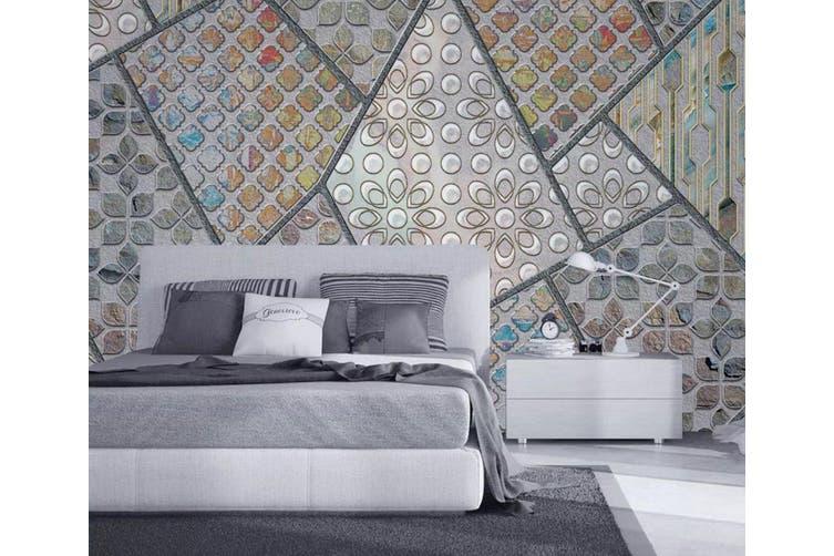 3D Home Wallpaper Geometric Patterns 1158 BCHW Wall Murals Woven paper (need glue), XXL 312cm x 219cm (WxH)(123''x87'')