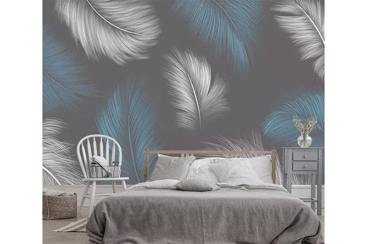 3D Home Wallpaper Feather Gently 1153 BCHW Wall Murals Self-adhesive Vinyl, XXXL 416cm x 254cm (WxH)(164''x100'')