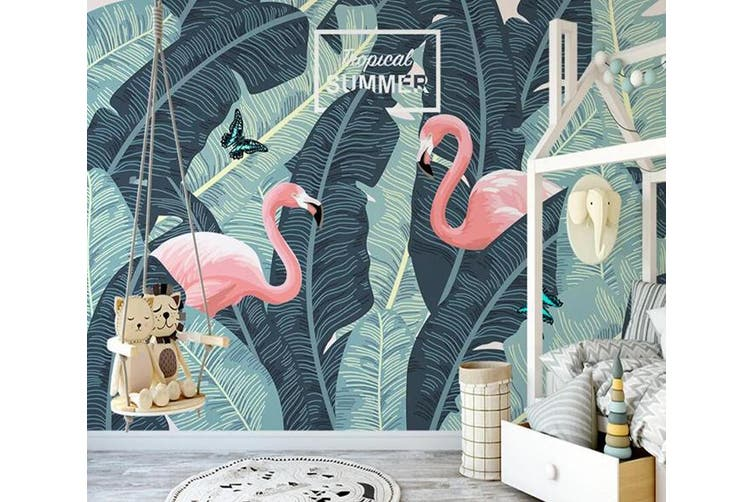 3D Home Wallpaper Pink Flamingo 1150 BCHW Wall Murals Self-adhesive Vinyl, XL 208cm x 146cm (WxH)(82''x58'')