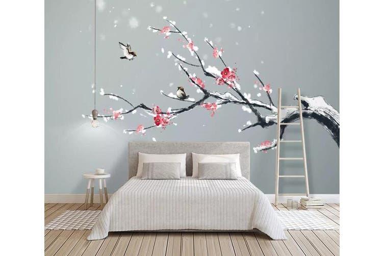 3D Home Wallpaper Red Plum 1144 BCHW Wall Murals Woven paper (need glue), XL 208cm x 146cm (WxH)(82''x58'')