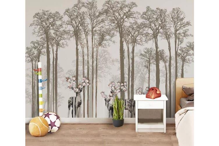 3D Home Wallpaper Misty Woods 1143 BCHW Wall Murals Woven paper (need glue), XL 208cm x 146cm (WxH)(82''x58'')