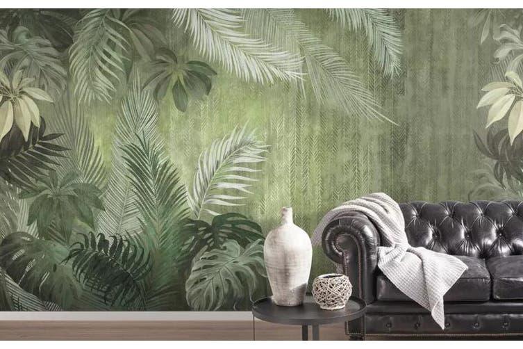 3D Home Wallpaper Green Leaf 1137 BCHW Wall Murals Self-adhesive Vinyl, XXL 312cm x 219cm (WxH)(123''x87'')