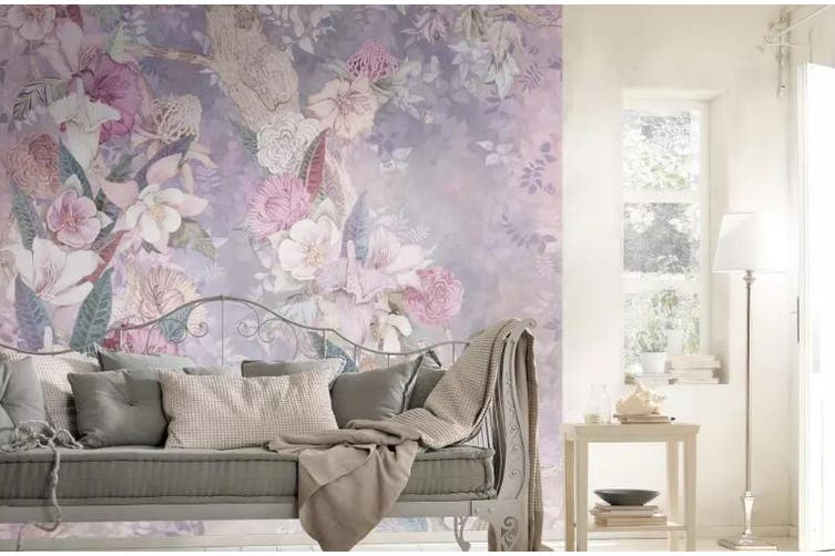 3D Home Wallpaper Flower Color 1136 BCHW Wall Murals Woven paper (need glue), XXXXL 520cm x 290cm (WxH)(205''x114'')