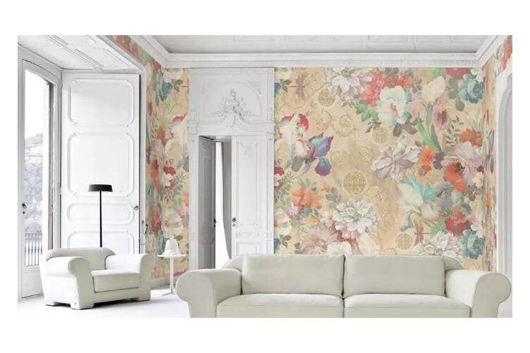 3D Home Wallpaper Flower Color 1134 BCHW Wall Murals Self-adhesive Vinyl, XL 208cm x 146cm (WxH)(82''x58'')
