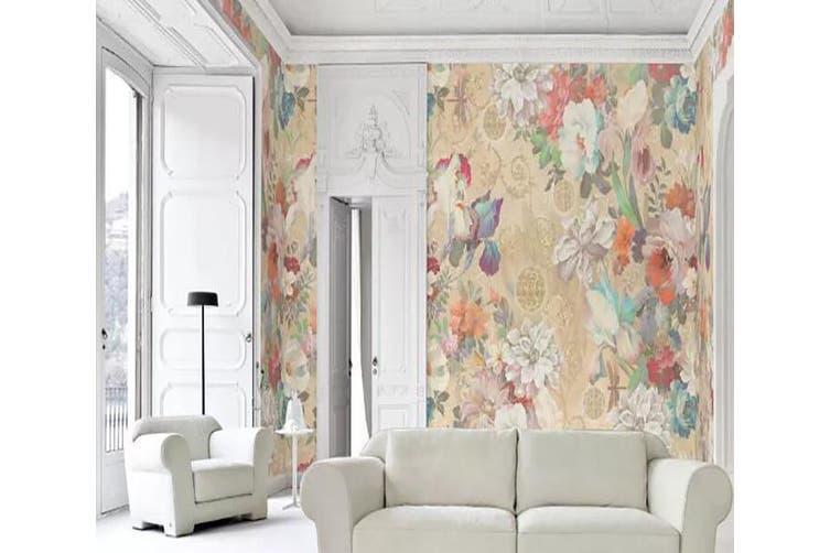 3D Home Wallpaper Flower Color 1134 BCHW Wall Murals Self-adhesive Vinyl, XXXL 416cm x 254cm (WxH)(164''x100'')
