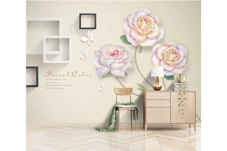 3D Home Wallpaper Flower Square 1131 BCHW Wall Murals Woven paper (need glue), XXXL 416cm x 254cm (WxH)(164''x100'')