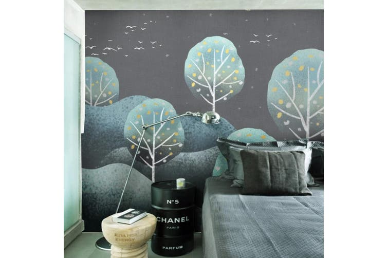3D Home Wallpaper Cute Little Tree 1128 BCHW Wall Murals Self-adhesive Vinyl, XXL 312cm x 219cm (WxH)(123''x87'')