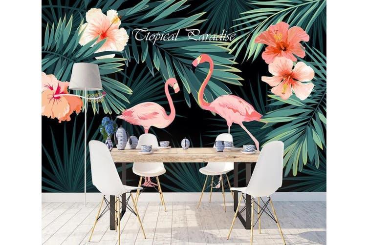 3D Home Wallpaper Pink Flamingo 1127 BCHW Wall Murals Woven paper (need glue), XL 208cm x 146cm (WxH)(82''x58'')