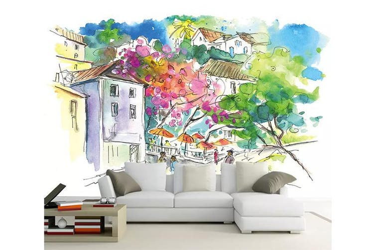 3D Home Wallpaper House Flower 1123 BCHW Wall Murals Woven paper (need glue), XXL 312cm x 219cm (WxH)(123''x87'')