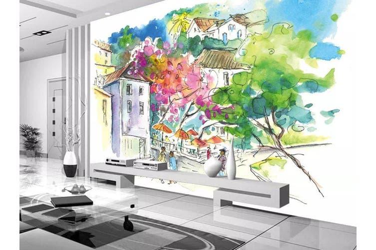 3D Home Wallpaper House Flower 1123 BCHW Wall Murals Self-adhesive Vinyl, XL 208cm x 146cm (WxH)(82''x58'')