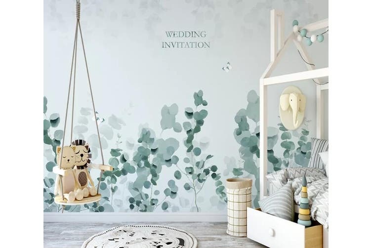 3D Home Wallpaper Green Leaf 1122 BCHW Wall Murals Woven paper (need glue), XXXL 416cm x 254cm (WxH)(164''x100'')