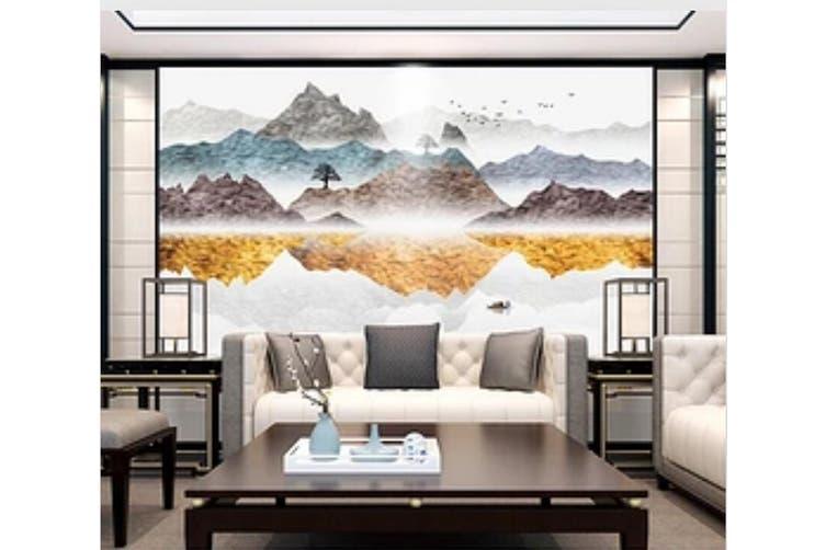 3D Home Wallpaper Colored Valley 1121 BCHW Wall Murals Self-adhesive Vinyl, XXL 312cm x 219cm (WxH)(123''x87'')