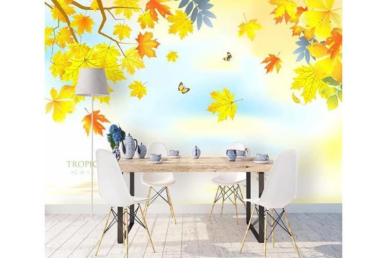 3D Home Wallpaper Colored Leaves 1120 BCHW Wall Murals Self-adhesive Vinyl, XL 208cm x 146cm (WxH)(82''x58'')