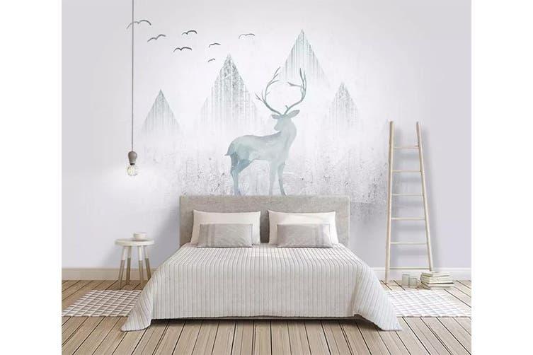 3D Home Wallpaper Valley Fawn 1116 BCHW Wall Murals Woven paper (need glue), XXXL 416cm x 254cm (WxH)(164''x100'')