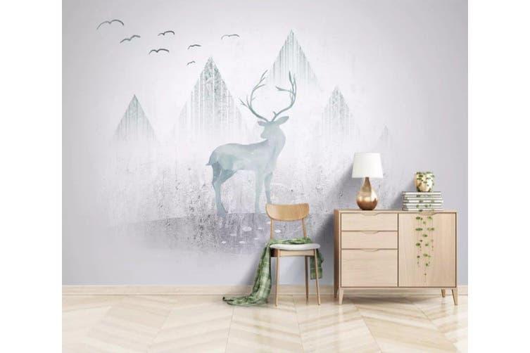 3D Home Wallpaper Valley Fawn 1116 BCHW Wall Murals Self-adhesive Vinyl, XL 208cm x 146cm (WxH)(82''x58'')