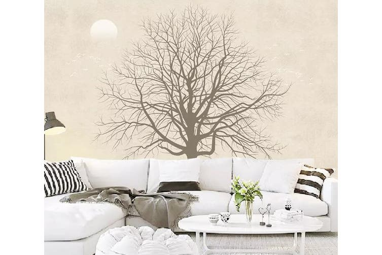 3D Home Wallpaper Tree Moon 1113 BCHW Wall Murals Woven paper (need glue), XXL 312cm x 219cm (WxH)(123''x87'')