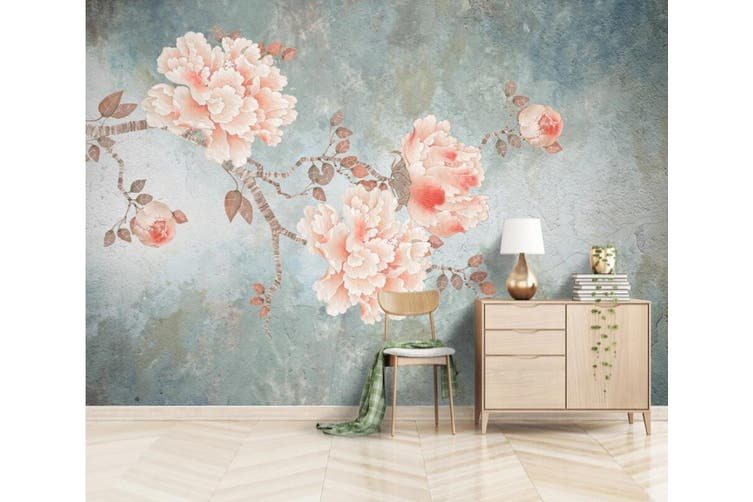 3D Home Wallpaper Pink Rose 1111 BCHW Wall Murals Woven paper (need glue), XL 208cm x 146cm (WxH)(82''x58'')
