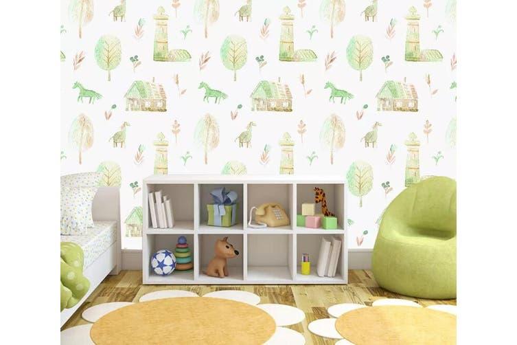 3D Home Wallpaper Pony Leaves 1100 BCHW Wall Murals Self-adhesive Vinyl, XL 208cm x 146cm (WxH)(82''x58'')