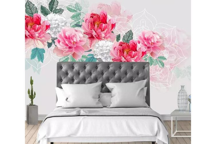 3D Home Wallpaper Pink Rose 1098 BCHW Wall Murals Self-adhesive Vinyl, XXXL 416cm x 254cm (WxH)(164''x100'')