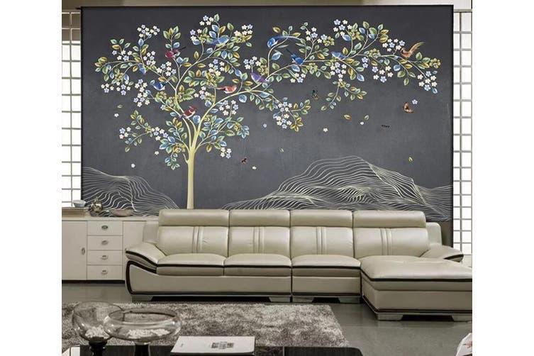 3D Home Wallpaper Colored Leaves 1096 BCHW Wall Murals Self-adhesive Vinyl, XXXL 416cm x 254cm (WxH)(164''x100'')