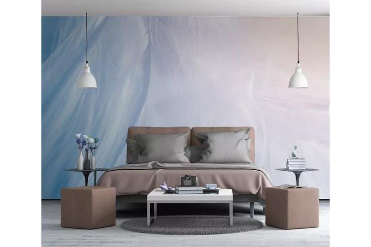 3D Home Wallpaper White Feather 1095 BCHW Wall Murals Self-adhesive Vinyl, XXXL 416cm x 254cm (WxH)(164''x100'')