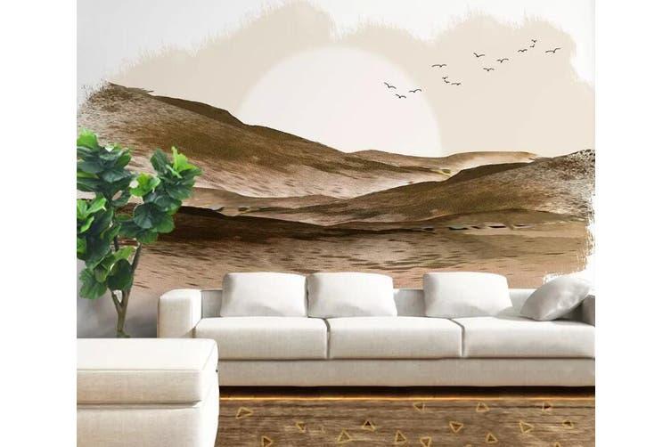 3D Home Wallpaper Desert Bird 1094 BCHW Wall Murals Woven paper (need glue), XXXXL 520cm x 290cm (WxH)(205''x114'')