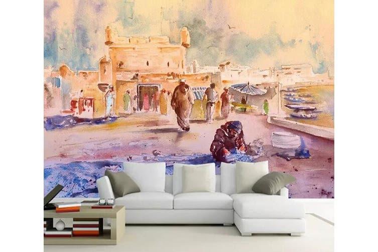 3D Home Wallpaper Color Graffiti 1091 BCHW Wall Murals Woven paper (need glue), XL 208cm x 146cm (WxH)(82''x58'')