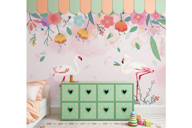 3D Home Wallpaper Cute Flowers 1Y ACH Wall Murals Self-adhesive Vinyl, XL 208cm x 146cm (WxH)(82''x58'')