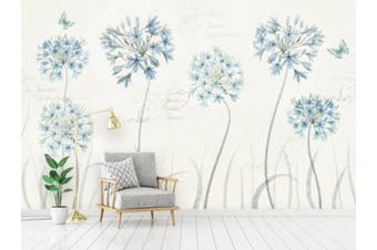 3D Home Wallpaper Blue Flowers 102 ACH Wall Murals Self-adhesive Vinyl, XXXL 416cm x 254cm (WxH)(164''x100'')