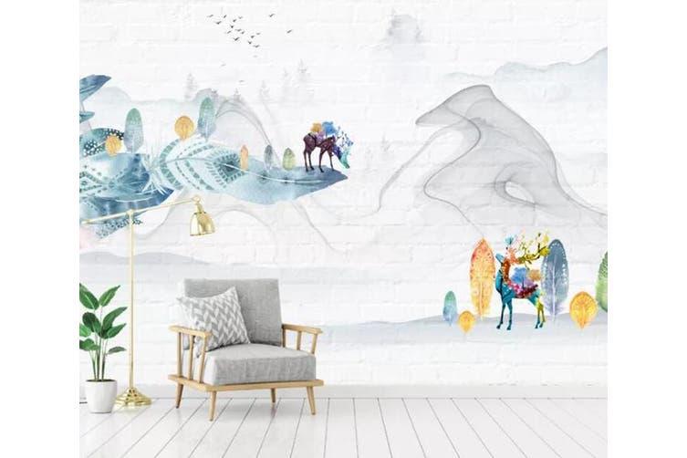 3D Home Wallpaper Little Deer Park 099 ACH Wall Murals Woven paper (need glue), XL 208cm x 146cm (WxH)(82''x58'')