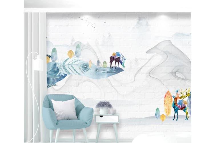 3D Home Wallpaper Little Deer Park 099 ACH Wall Murals Woven paper (need glue), XXL 312cm x 219cm (WxH)(123''x87'')