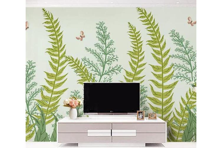 3D Home Wallpaper Green Plant 096 ACH Wall Murals Woven paper (need glue), XXL 312cm x 219cm (WxH)(123''x87'')