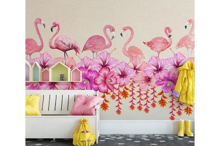 3D Home Wallpaper Flamingo Flower 095 ACH Wall Murals Woven paper (need glue), XL 208cm x 146cm (WxH)(82''x58'')