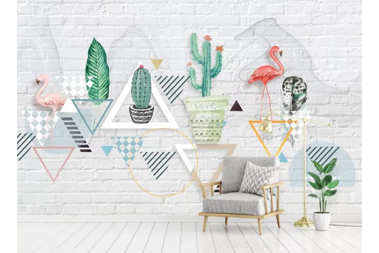 3D Home Wallpaper Plant Flamingo 093 ACH Wall Murals Woven paper (need glue), XXXL 416cm x 254cm (WxH)(164''x100'')
