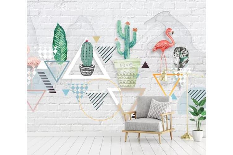 3D Home Wallpaper Plant Flamingo 093 ACH Wall Murals Self-adhesive Vinyl, XXXL 416cm x 254cm (WxH)(164''x100'')