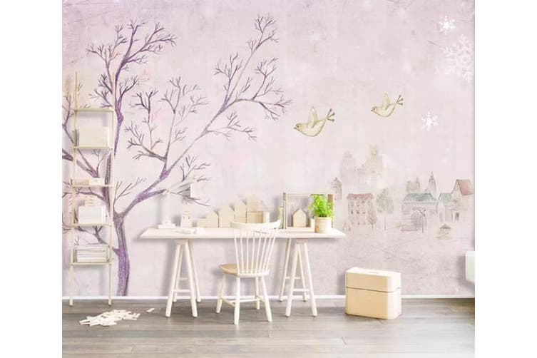 3D Home Wallpaper Cute bird 090 ACH Wall Murals Self-adhesive Vinyl, XL 208cm x 146cm (WxH)(82''x58'')