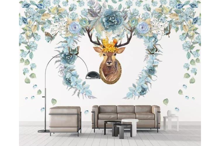 3D Home Wallpaper Elk Antler 088 ACH Wall Murals Self-adhesive Vinyl, XXXXL 520cm x 290cm (WxH)(205''x114'')