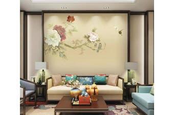 3D Home Wallpaper Flower Butterfly 086 ACH Wall Murals Woven paper (need glue), XXXXL 520cm x 290cm (WxH)(205''x114'')