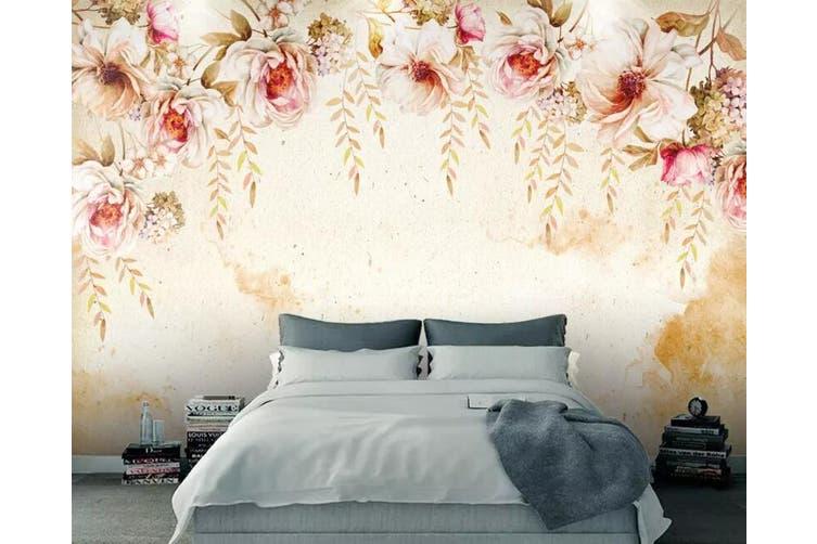 3D Home Wallpaper Colored Flowers 083 ACH Wall Murals Woven paper (need glue), XXXXL 520cm x 290cm (WxH)(205''x114'')