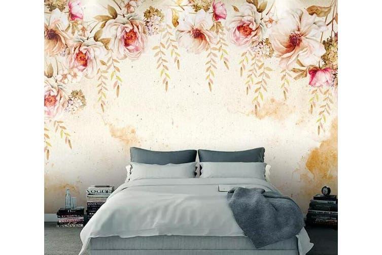 3D Home Wallpaper Colored Flowers 083 ACH Wall Murals Self-adhesive Vinyl, XL 208cm x 146cm (WxH)(82''x58'')