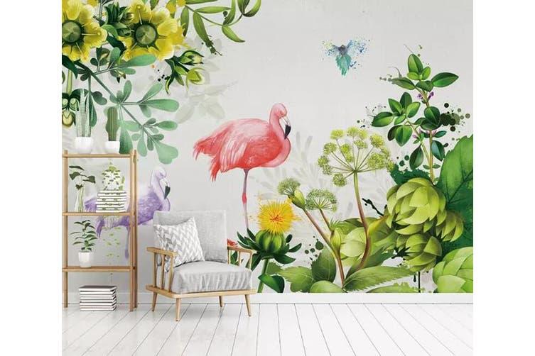 3D Home Wallpaper Flamingo Plant 081 ACH Wall Murals Woven paper (need glue), XXL 312cm x 219cm (WxH)(123''x87'')