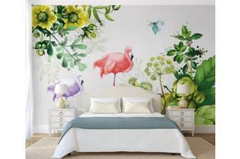 3D Home Wallpaper Flamingo Plant 081 ACH Wall Murals Woven paper (need glue), XXXL 416cm x 254cm (WxH)(164''x100'')