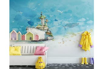 3D Home Wallpaper Ship Seabird 080 ACH Wall Murals Woven paper (need glue), XXL 312cm x 219cm (WxH)(123''x87'')